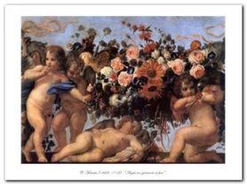 Angeli Con Ghirlanda plakat obraz 80x60cm