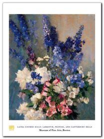 Larkspur Peonies plakat obraz 60x80cm
