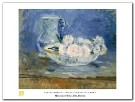 White Flowers plakat obraz 80x60cm
