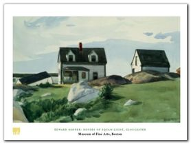 Houses Of Squam Light plakat obraz 80x60cm