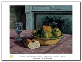 Bowl Of Pears plakat obraz 80x60cm