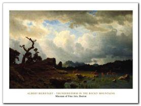The Rochy Mountains plakat obraz 80x60cm
