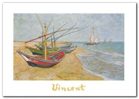 Fishing Boats plakat obraz 70x50cm