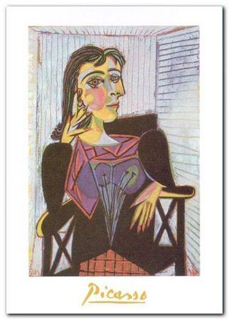 Portrait of Dora Maar plakat obraz 60x80cm (1)