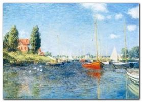 Red BoatsArgenteuil plakat obraz 70x50cm