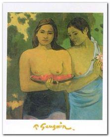 Deux Thaitiennes plakat obraz 24x30cm
