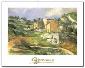 Houses At The Estaque plakat obraz 30x24cm
