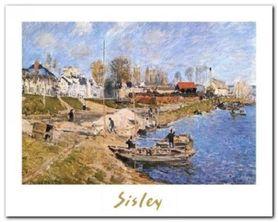 Quayside Port-Marly plakat obraz 30x24cm