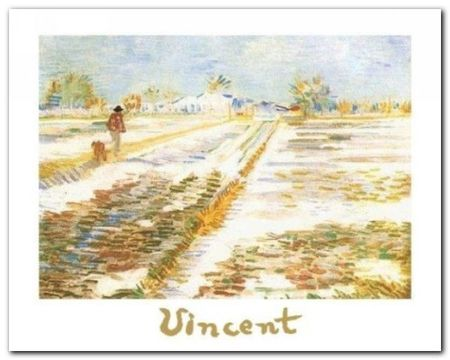 Paysage Enneige plakat obraz 30x24cm (1)
