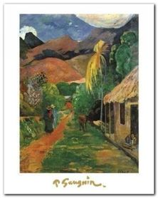 Chemin A Papeete plakat obraz 24x30cm