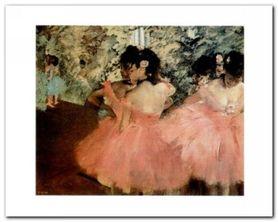 Ballerine In Rosa plakat obraz 30x24cm