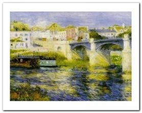 Bridge At Chatou plakat obraz 30x24cm