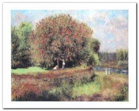 Blumender Kastanienbaum plakat obraz 30x24cm