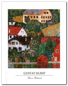 Houses At Unterach plakat obraz 40x50cm