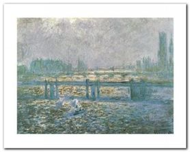 Charing Cross Bridge plakat obraz 50x40cm