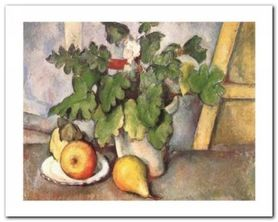 Plate With Fruit plakat obraz 50x40cm