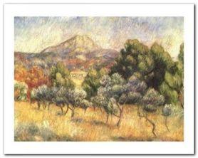 Le Mont Sainte-Victoire plakat obraz 50x40cm