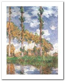 Poplars At Giverny plakat obraz 40x50cm