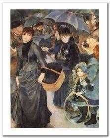 Les Parapluies plakat obraz 40x50cm