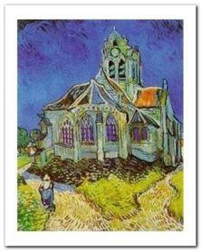 The Church At Auvers plakat obraz 40x50cm