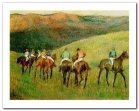Racehorses plakat obraz 50x40cm