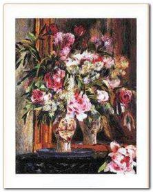 Peonies Lilas Tulips plakat obraz 40x50cm