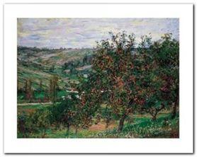 Apfelbaume Bei Vetheuil plakat obraz 50x40cm