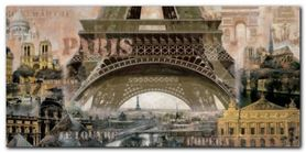 Paris plakat obraz 100x50cm