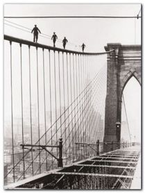 Brooklyn Bridge Climb plakat obraz 60x80cm