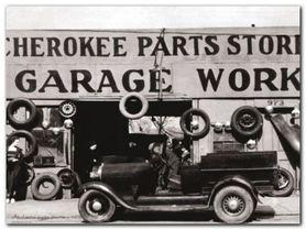Atlanta Auto Parts plakat obraz 80x60cm