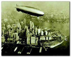 The Hindenburg Airship plakat obraz 50x40cm