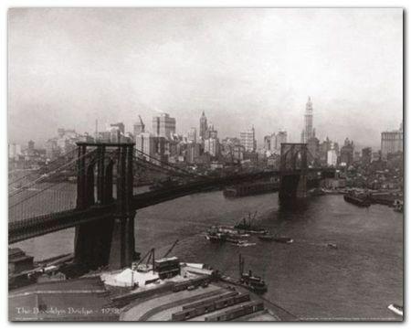 The Brooklyn Bridge plakat obraz 50x40cm (1)