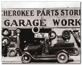 Atlanta Auto Parts plakat obraz 50x40cm