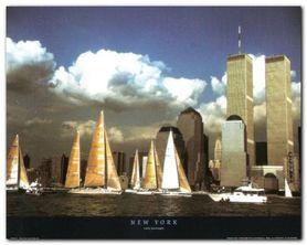 New York plakat obraz 50x40cm