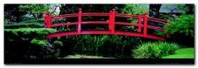 Japanese Gardens plakat obraz 95x33cm