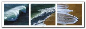 Waves plakat obraz 95x33cm