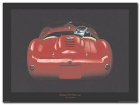 Ferrari 375 Plus 1955 plakat obraz 40x30cm