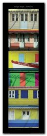 Maisons Creoles plakat obraz 33x95cm