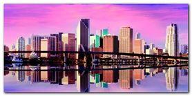 Panorama of Miami plakat obraz 100x50cm
