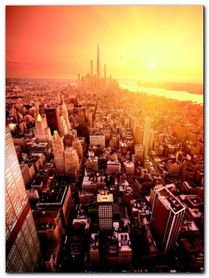 Future New York plakat obraz 60x80cm