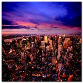 Big Apple after Sunset plakat obraz 70x70cm