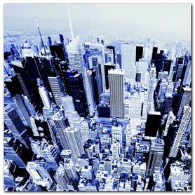 Aerial View Manhattan plakat obraz 70x70cm