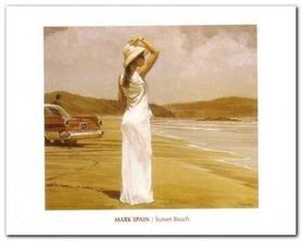 Sunset Beach plakat obraz 50x40cm