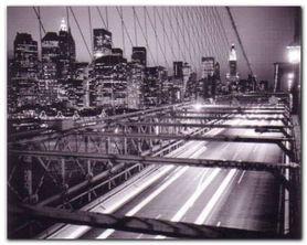 Manhattan At Night plakat obraz 50x40cm