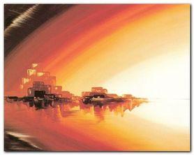 Skyline At Sundown plakat obraz 50x40cm