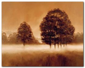 Misty Meadow plakat obraz 50x40cm