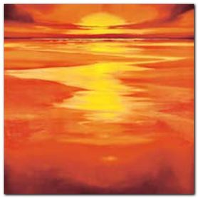 Red Evening plakat obraz 50x50cm