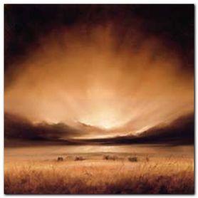 Suffolk Sunset plakat obraz 70x70cm