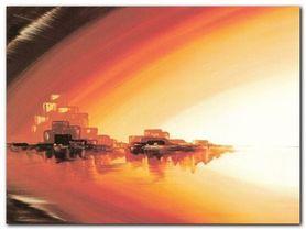 Skyline At Sundown plakat obraz 80x60cm