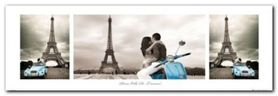 Paris City of Romance plakat obraz 95x33cm